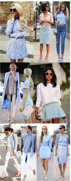 Azul suave, a cor da próxima temporada! - Fashionismo