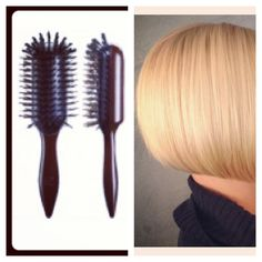 styled out with body and ease. Hairbrush, Bob Styles, Hair Type, Texture, Beautiful, Surface Finish, Hair Color Brush, Hair Comb, Bob Hair Styles