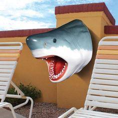 Design Toscano The Great White Shark Wall Mount Trophy Sculpture - NE130046