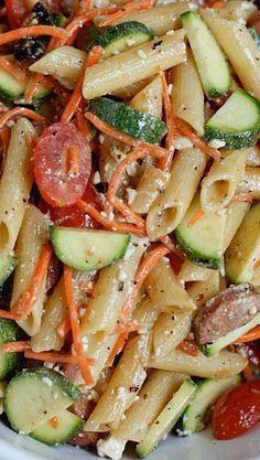 Garden Pasta Salad with Chicken Sausage