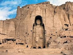 Bamiyan Buddhas, Afghanistan - Were the largest examples of standing Buddha carvings in the world before they were destroyed by the Taliban in 2001.