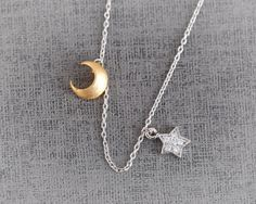 moon and star necklace (etsy shop: CreaMellow)