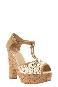 Summer Crochet Cork Wedge Heels (Wide Width)   Shoes