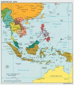 Gambar Peta Kawasan Asia Tenggara Southeast Kabupaten Bali