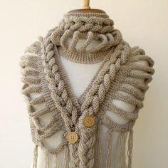 Je suis tombée amoureuse... ...d'une écharpe ! Encore du tricot me direz-vous, mais maintenant que j'ai bien le coup en main, je...