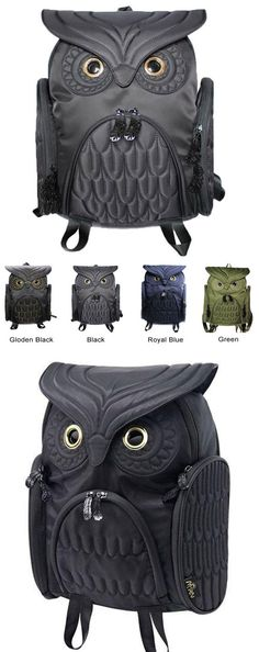 Unique Cool Owl Shape Solid Computer Backpack School Bag Travel Bag for big sale! #owl #backpack #Bag #school #college