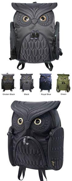 ca8ef80ccd70 Unique Cool Owl Shape Solid Computer Backpack School Bag Travel Bag for big  sale! #