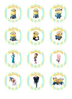 despicable me cupcake toppers