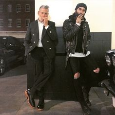 """nickelsonwooster: """" So this happened tonight. Smoking with @rickifuckinhall. Thanks to @mrelbank for capturing this moment. #beardexhibition (at The Beaumont) """""""
