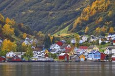 Village of Undredal, Aurlands Fjord, Norway