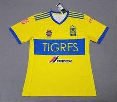 Tigres UANL 2017-18 Season Home Liga MX Shirt Jersey [K666]