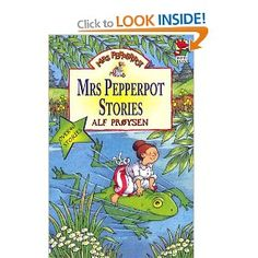 Mrs Pepperpot has been one of my favourite children's book. It shows a lot different adventures about this character. The cover shows that it is an exciting and fun book to read because it shows her riding a frog. World Book Day Costumes, Ladybird Books, Kids Tv, Kids Writing, Stories For Kids, Book Recommendations, Childhood Memories, Childrens Books, Literature