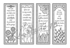 Bible Verse Coloring Bookmarks Instant Download 1 PDF File JPEG These Patterns Becomes A Fun Exercise In Discovering Wonderful Color