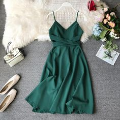 Summer Outfits, Casual Outfits, Cute Outfits, Fashion Outfits, Summer Dresses, Beautiful Casual Dresses, Cute Dresses, Dress Indian Style, Spaghetti Strap Dresses