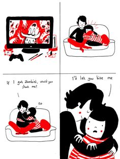 Adorable Comics Of A Quirky Couple Spending Time Together - DesignTAXI.com