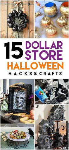 These 15 Epic Dollar Store Halloween Hacks are so fun to create! They will make your holiday so much easier, and keep you on (or under) budget! Halloween Hacks, Easy Halloween Crafts, Halloween Party Decor, Fall Halloween, Halloween 2018, Women Halloween, Halloween Projects, Halloween Recipe, Halloween Makeup