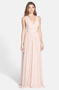 ERIN erin fetherston 'Sandrine' Embellished Chiffon Gown available at #Nordstrom