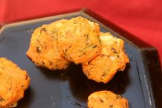 sweet potato & broccoli balls… perfect for toddler. Leave out the cheese