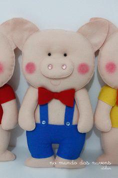 No Mundo das Nuvens Atelier: 3 porquinhos