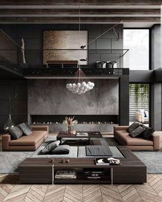 Home Room Design, Dream Home Design, Modern House Design, Modern Interior Design, Luxury Interior, Interior Architecture, Living Room Designs, Contemporary Home Design, Modern Mansion Interior