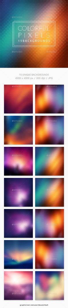 Pixels | Colorful Backgrounds - Abstract Backgrounds