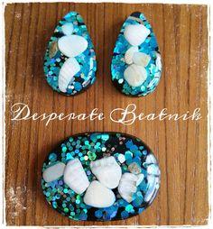 Medium Teardrop Confetti lucite earrings and by desperatebeatnik, €26.00