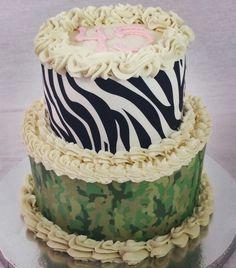 Camo & Zebra Cake