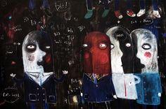 "Saatchi Art Artist Nicolas  da Rocha; Painting, ""Overlapping, chamuyos y otras cuestiones"" #art"