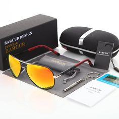 BARCUR Men Sunglasses 2018 Brand Original HD Polarized