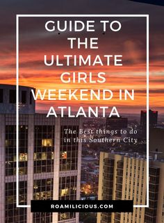 Looking for a fun girls getaway in Atlanta? Check out this simple weekend trip! Atlanta GA offers so many great places to spend time with friends! Ski Vacation, Vacation Resorts, Vacation Spots, Weekend In Atlanta, Visit Atlanta, Girlfriends Getaway, Girls Getaway, Weekend Trips, Weekend Getaways