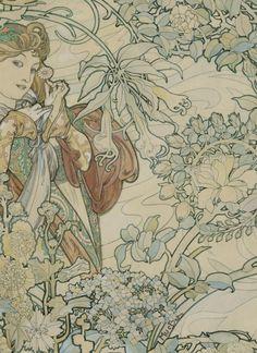 Alphonse Mucha FABRIC DESIGN