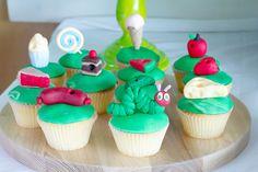 Very Hungry Caterpillar Party | Caterpillar Cupcakes