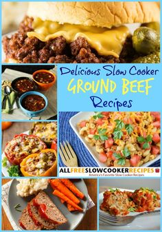 Ground Beef Slow Cooker Recipes - This tasty collection includes ground beef casserole recipes, ground beef soup recipes, meatloaf recipes and more.