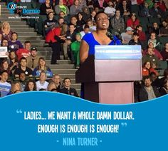 #Women4Bernie want the whole dollar! Bernie is the candidate for real change, including wage equality and paid family medical leave. Vote Bernie Sanders all the way! Check with you local voter registration office to make sure you're all set for the primary, then get out and make your voice heard! Vote in the Democratic PRIMARY!