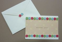 125.フェルトリボンのThank youカード2種 | 簡単手作りカード Chocolate Card Factory