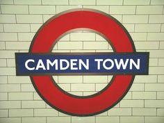 Camden Town Underground for Camden Lock Market - London.