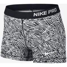 "Nike Pro 3"" Cool Palm Women's Training Shorts. Nike.com (3265 RSD) ❤ liked on Polyvore featuring activewear, activewear shorts, nike, nike sportswear and nike activewear"