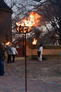 williamsburg cresset burning - Google Search