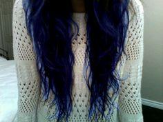 dark blue hair, will you dye my hair like dis Dark Blue Hair, Purple Hair, Deep Blue, Dark Purple, Dark Brown, Love Hair, Gorgeous Hair, Rocker, Coloured Hair