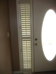 Plantation Shutters On A Front Door And Sidelights. | Doors | Pinterest |  Front Doors, Interior Window Shutters And Doors