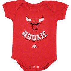 Chicago Bulls Newborn Baby adidas Rookie Creeper $17.99 #SeeRed