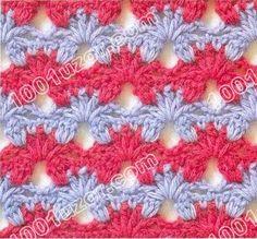 1001 узор. Узоры крючком. Разноцветные узоры http://www.1001uzor.com/uzory/crochet/pattern9-5.html