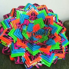 Wow this is a huge flower I will have to try this some time this could tons of rolls of duck tape and tons of time