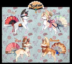 This is our very first batch of Foxfans!! djfdfgf ;w; They're inspired in the 4 seasons, we hope you like them! ;3; To know more about the species go here: Auction Rules ::::::: R...