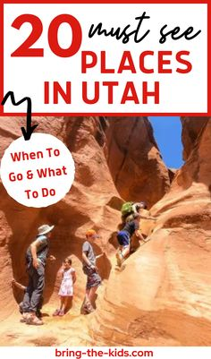 The top most breathtaking places to visit on a trip to Utah and when to visit! Add these bucket list destinations from Utah National Parks, Great Salt Lake, Zion, Moab, Narrows, Arches, Lake Powell, St. George and more! Plus the best tips on things to do in Utah with kids at each outdoor natural wonder like easy hiking trails, camping, whitewater rafting, swimming, paddle boarding and more! Travel Utah for your next family adventure vacation! Zion Utah, Snow Canyon State Park, Utah Camping, St George Utah, Utah Vacation, Utah Adventures, Whitewater Rafting, Lake Powell, Family Adventure
