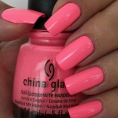 Hot coral china glaze nails