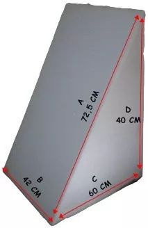 almofada encosto triangular  leitura romero design c/ lombar