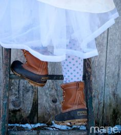 Except the tall furry lined ones and no blue dotted tights. Ski Wedding, Woodsy Wedding, Wedding Bells, Wedding Shoes, Wedding Stuff, Dream Wedding, Winter Wedding Decorations, Winter Weddings, Maine Winter