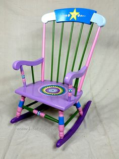 Child's Rocking Chair- Custom Hand Painted Furniture Made to order by LisaFrick on Etsy https://www.etsy.com/listing/204000176/childs-rocking-chair-custom-hand-painted