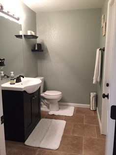 Powder bath. Oyster bay by Sherwin Williams